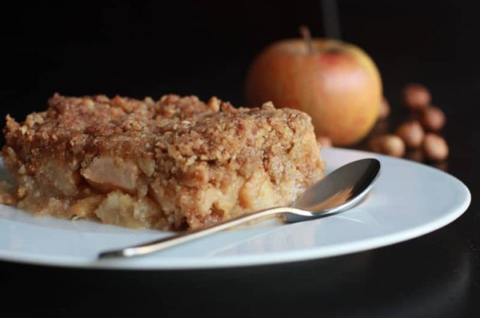 Crumble Thermomix pomme noisettes