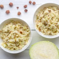 Salade pommes, chou, noisettes au Thermomix