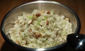 Salade pomme, chou et noisettes