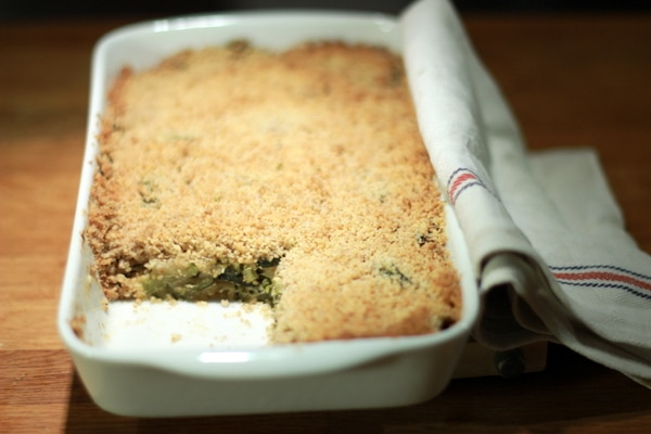Crumble courgette menthe feta au Thermomix