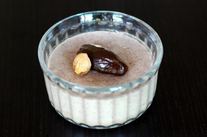 Crème dessert dattes noisettes au Thermomix