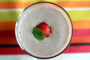 Smoothie banane fraise au Thermomix