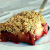 Crumble pomme framboise au Thermomix