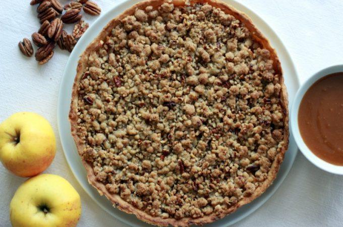 Tarte aux pommes noix de pécan sauce caramel au Thermomix