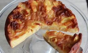 Gâteau aux pommes et au beurre salé