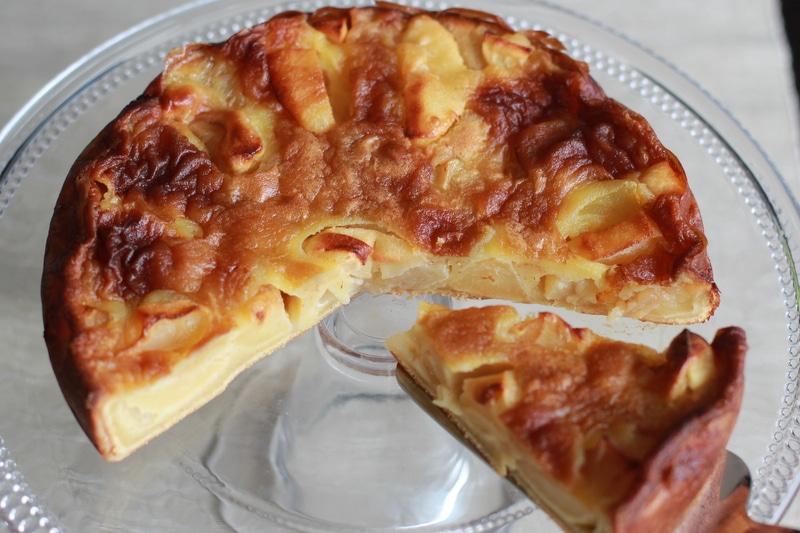 Gâteau aux pommes et au beurre salé au Thermomix