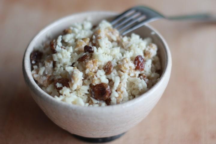 Salade de céleri aux noix et aux raisins au Thermomix