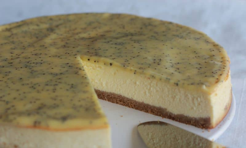 Cheesecake au citron et pavot