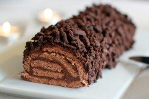 Bûche au chocolat au Thermomix
