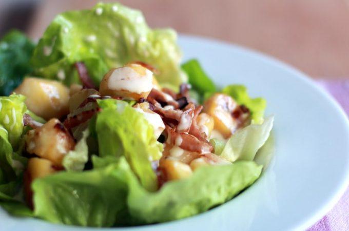 Recette de salade au bacon et à la pomme, sauce camembert au Thermomix