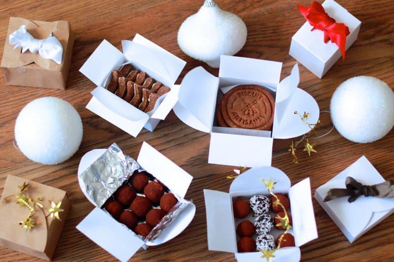 Boîtes pour cadeaux gourmands