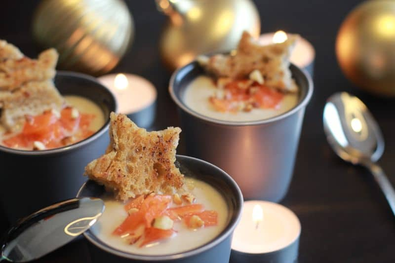 Crème de chou-fleur saumon fumé