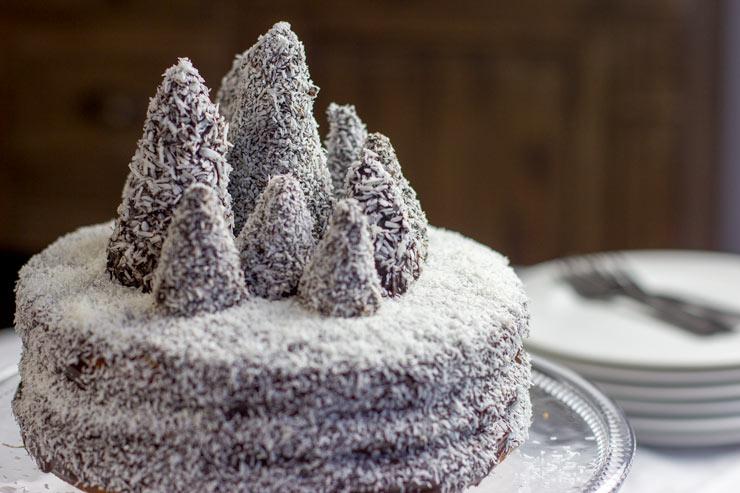Gâteau de noël foret enneigee au Thermomix