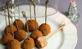 Sucettes de foie gras au pain d'épices