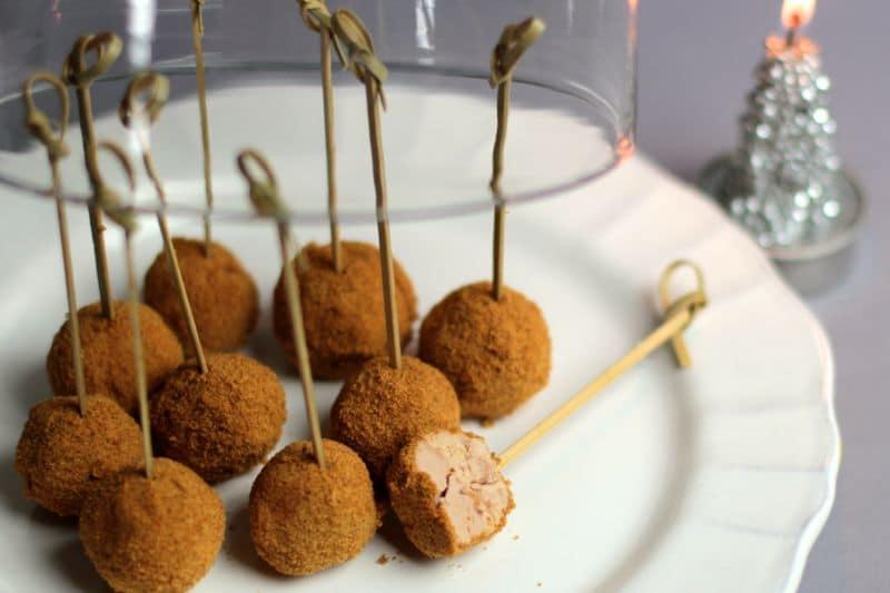Sucettes de foie gras au pain d'épice au Thermomix