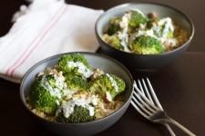 Quinoa brocolis poulet sauce chèvre noisette au Thermomix