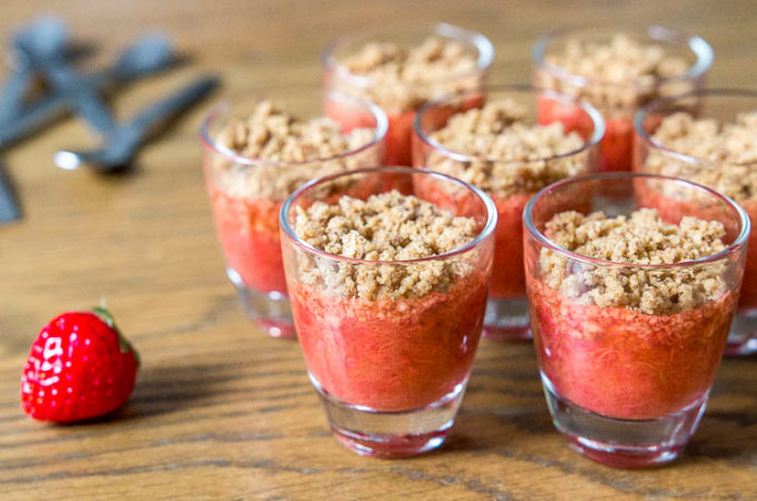 Crumble fraise rhubarbe Thermomix