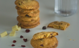 Cookies au chocolat blanc et cranberries