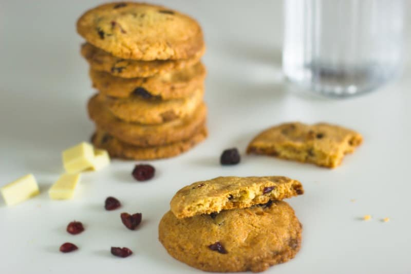 Recette Thermomix de cookies chocolat blanc cranberries