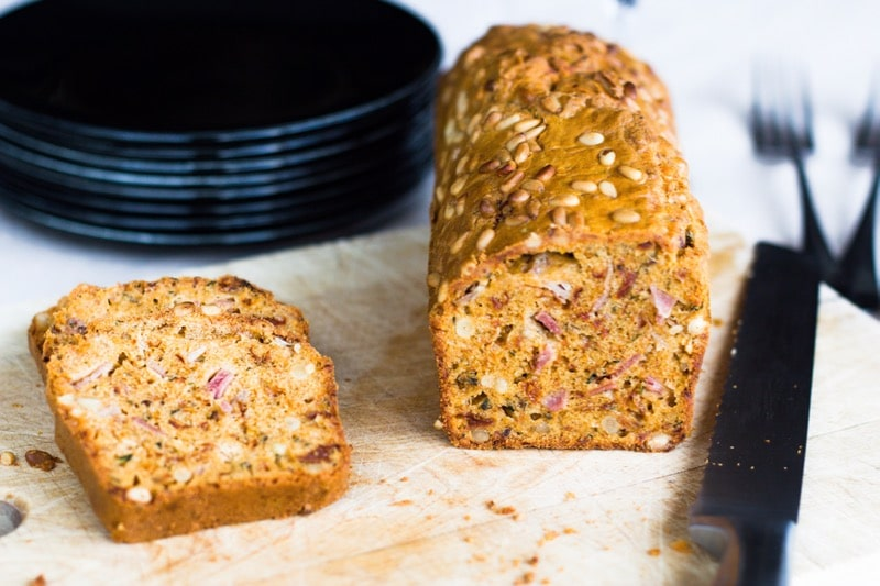 Cake sal sans gluten thermomix au jambon cru et tomates s ch e - Recette cake sale vegetarien ...