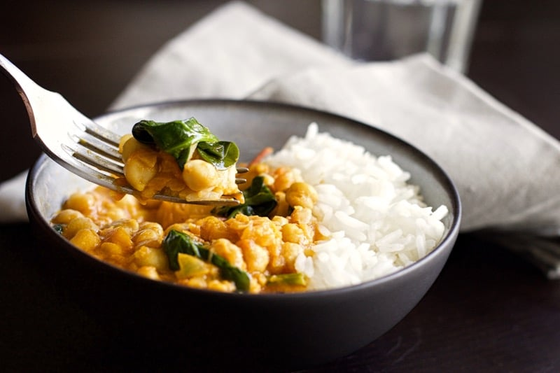 Curry de pois chiches {express, healthy, vegan, sans gluten et sans lactose !}