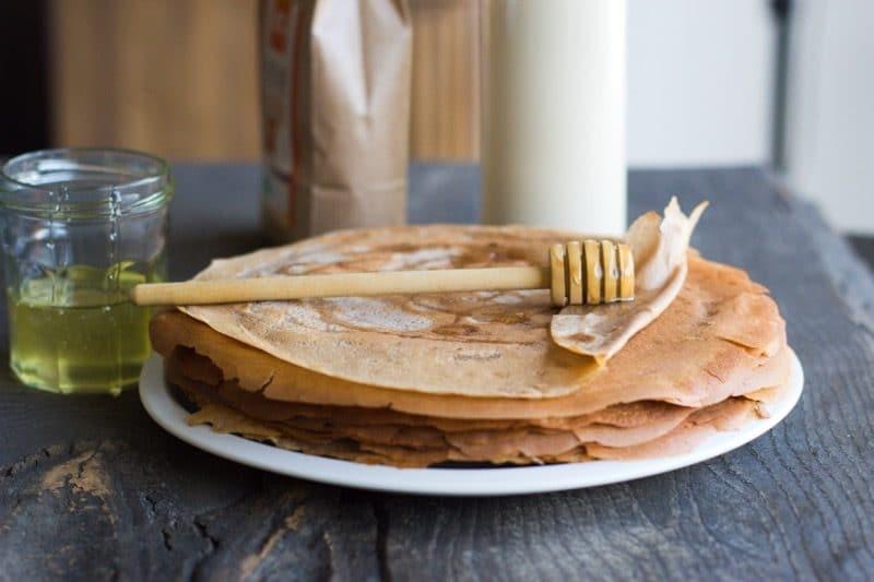Crêpes à la farine de châtaigne (sans gluten ni produits laitiers)