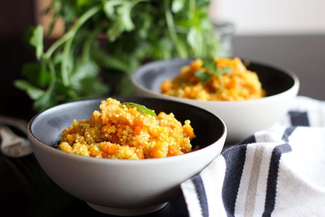 Recette de quinoasotto aux carottes et épices au Thermomix