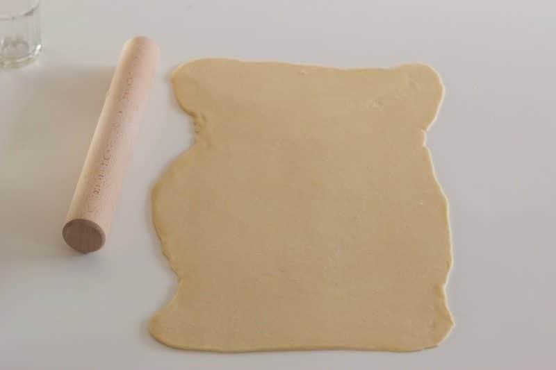 Pâte de brioche babka Thermomix étalée