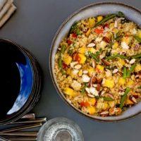 Salade de quinoa aux nectarines féta et haricots verts au Thermomix