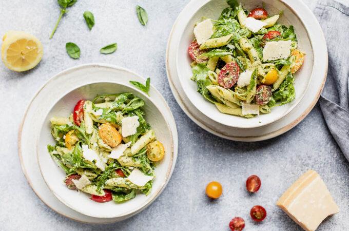 Salade de pâtes, tomates cerises et roquette au Thermomix