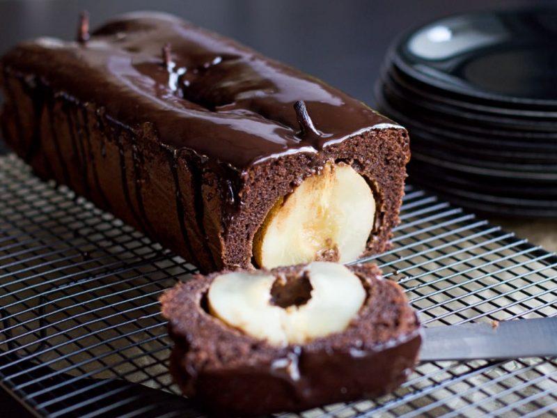 Recette Thermomix de cake chocolat et poires entières