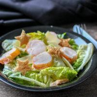 Salade césar à la langouste au thermomix