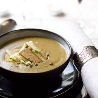 Recette de velouté de lentille au foie gras au Thermomix