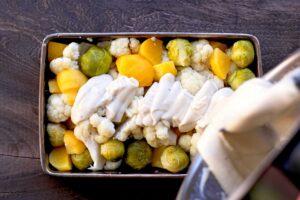 Béchamel sarrasin sur gratin de légumes au Thermomix