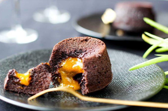 Recette de moelleux au chocolat coeur passion au Thermomix