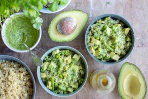Salade de quinoa Verde au Thermomix