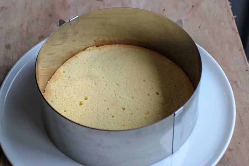 Biscuit cuit au fond du moule pour fraisier Thermomix