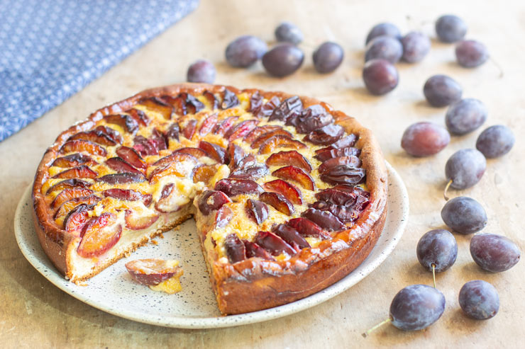 Tarte aux prunes quetches au thermomix