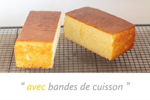 Gâteau avec bandes de cuisson
