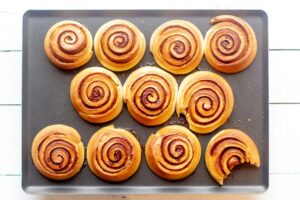 Kannelbullar au Thermomix cuits