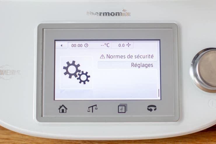 Réglage du son du Thermomix - Réglages