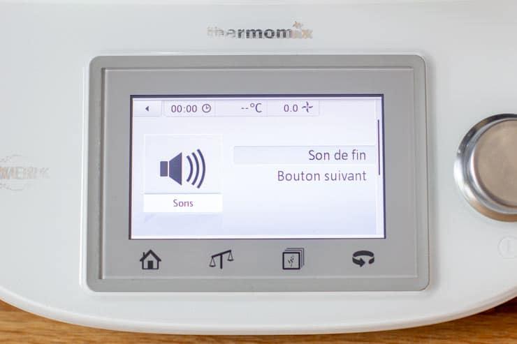 Réglage du son du Thermomix - Son de fin