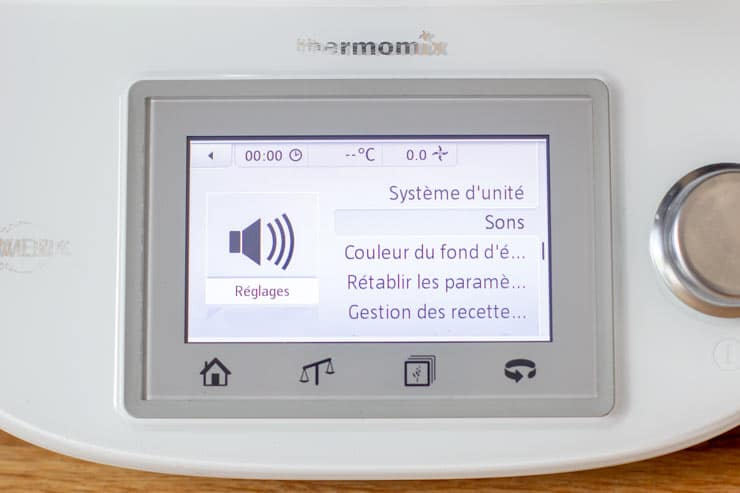 Réglage du son du Thermomix - Sons