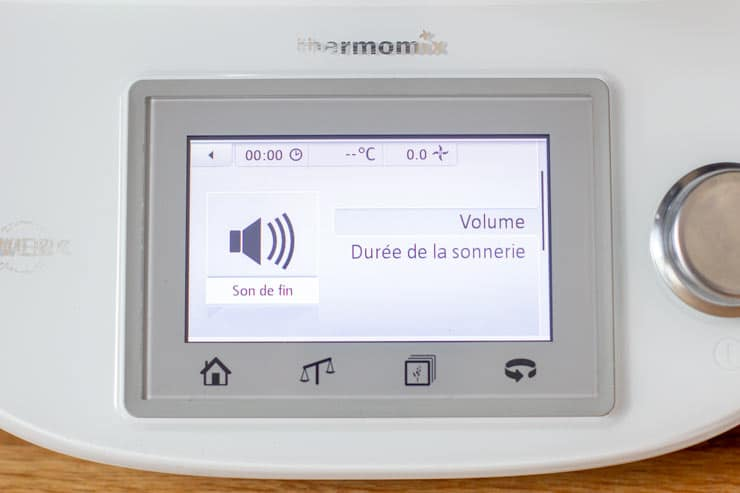 Réglage du son du Thermomix - Volume