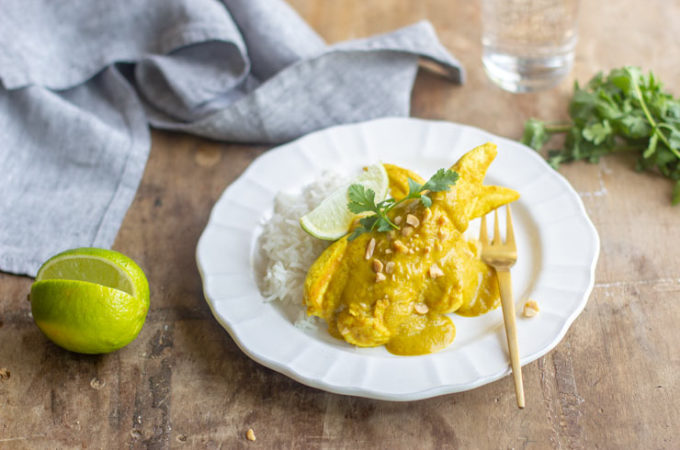 Curry de poulet à la banane au Thermomix