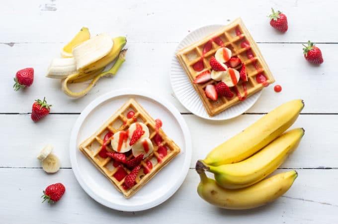 Gaufres à la banane et aux fraises au Thermomix