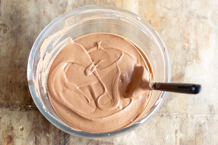 Mousse au chocolat por le gâteau royal au chocolat au Thermomix