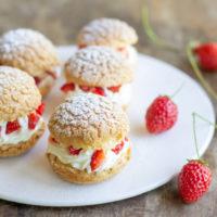 Choux à la chantilly et aux fraises au Thermomix