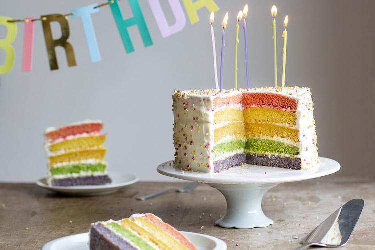 Rainbow cake au Thermomix {Gâteau d'anniversaire au Thermomix}