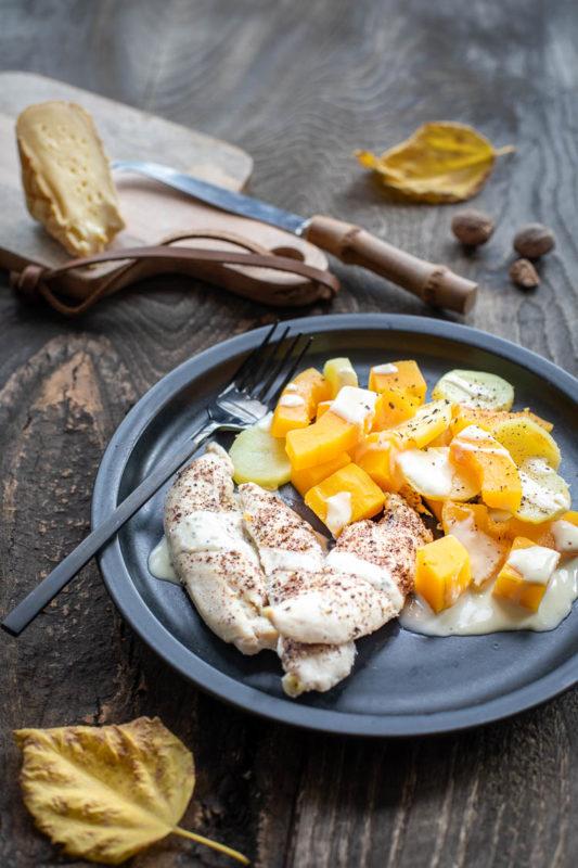 Poulet au Maroilles au Thermomix et courge butternut